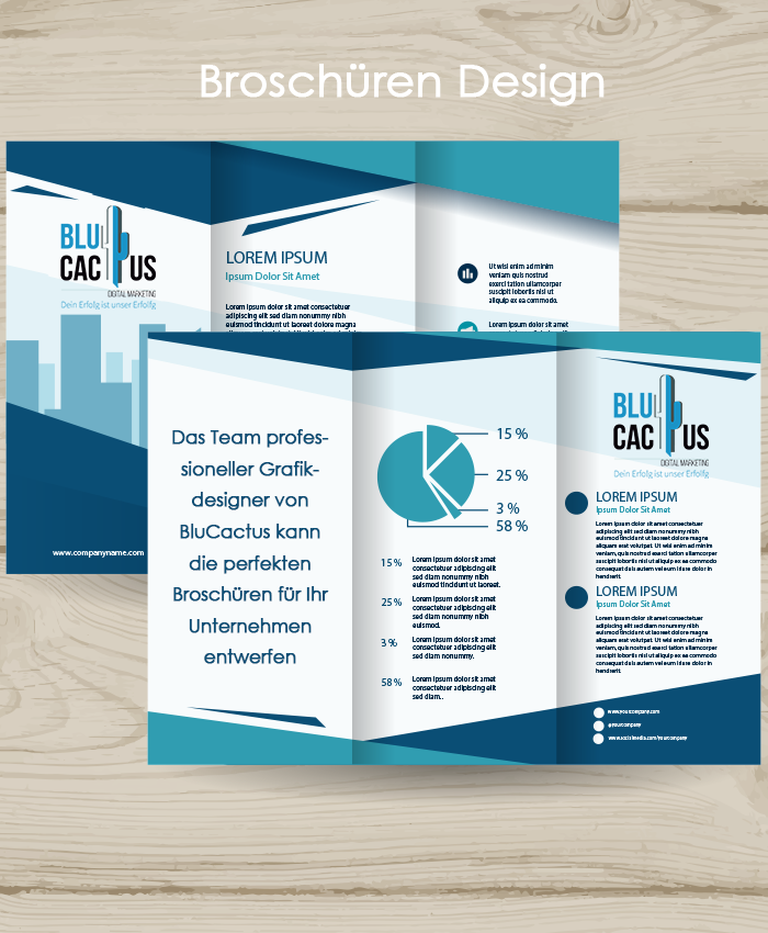 BluCactus - Grafikdesign Broschüren Design