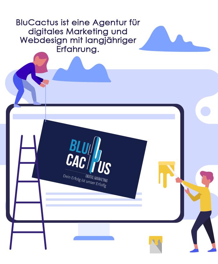 BluCactus - Grafikdesign Erfahrung und Qualität mit BluCactus Digital Design Firma