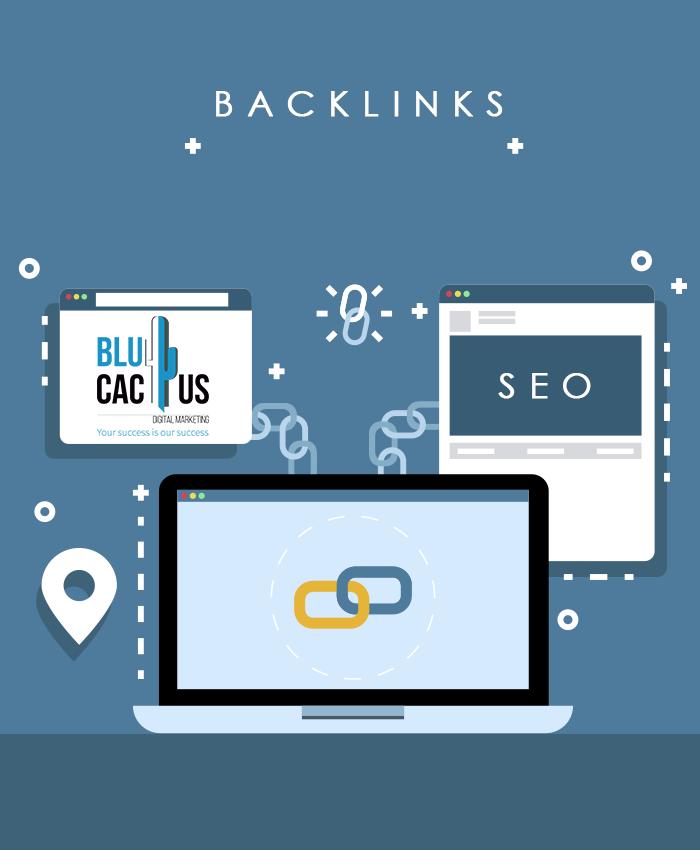 BluCactus - Eine Webseite die mit zwei anderen Webseiten verlinkt ist Das ist ein Backlink.