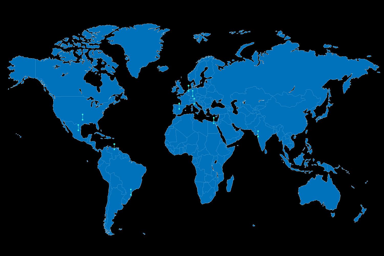 BluCactus - Weltatlas mit allen Niederlassungen
