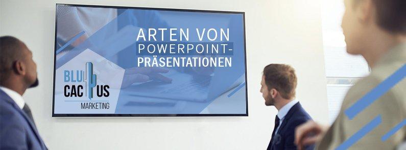 BluCactus-Arten von PowerPoint-Präsentationen-Cover-Page