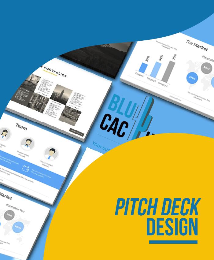 BluCactus Präsentationsagentur - Pitch Deck Entwurf